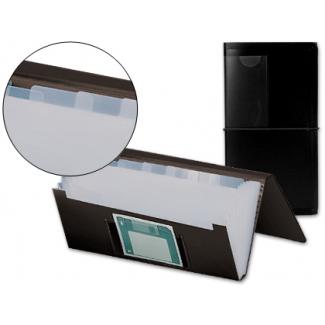 Carpeta Beautone clasificador fuelle polipropileno negra para letras y diskette 13 departamentos