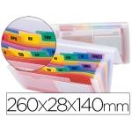 Carpeta Beautone clasificador fuelle polipropileno para letras y cheques tte spectrafile 13 departamentos