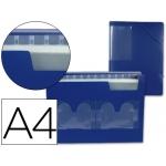 Carpeta Beautone clasificador fuelle polipropileno tamaño A4 color azul 2 disketteras 13 departamentos