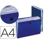 Carpeta Beautone clasificador fuelle polipropileno tamaño A4 color azul 7 departamentos