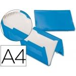 Carpeta Beautone clasificador fuelle polipropileno tamaño A4 color azul serie frosty 13 departamentos