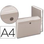 Carpeta Beautone clasificador fuelle polipropileno tamaño A4 color incolora 7 departamentos