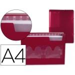 Carpeta Beautone clasificador fuelle polipropileno tamaño A4 color roja 2 disketteras 13 departamentos