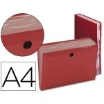 Carpeta Beautone clasificador fuelle polipropileno tamaño A4 color roja 7 departamentos
