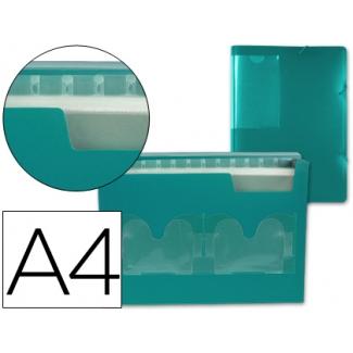 Carpeta Beautone clasificador fuelle polipropileno tamaño A4 color verde 2 disketteras 13 departamentos