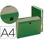 Carpeta Beautone clasificador fuelle polipropileno tamaño A4 color verde 7 departamentos