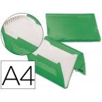 Carpeta Beautone clasificador fuelle polipropileno tamaño A4 color verde serie frosty 13 departamentos