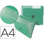 Carpeta Beautone clasificador fuelle polipropileno tamaño A4 color verde sin asa superline 8 departamentos