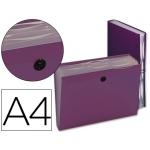 Carpeta Beautone clasificador fuelle polipropileno tamaño A4 color violeta 7 departamentos