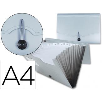 Carpeta Beautone clasificador fuelle polipropileno tamaño A4 hueco tarjeta 13 departamentos