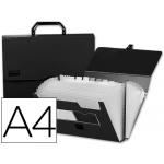 Carpeta Beautone clasificador fuelle polipropileno tamaño A4 negra con asa superline 26 departamentos