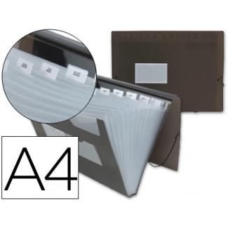 Opina sobre Liderpapel FU10 - Carpeta clasificadora con fuelle, polipropileno, tamaño A4, 13 departamentos, color negro translúcido