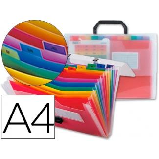 Carpeta Beautone clasificador fuelle polipropileno tamaño A4 transparente 13 departamentos