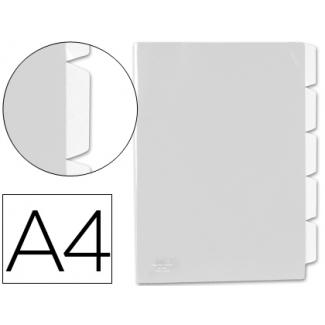 Carpeta Beautone dossier 5 separadores polipropileno tamaño A4 color incolora