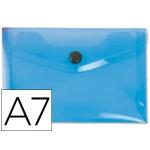 Carpeta Beautone dossier broche polipropileno A6 color azul serie frosty