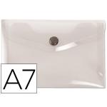 Liderpapel DS42 - Dossier con broche, A7, 180 micras, capacidad para 50 hojas, color incoloro frosty