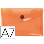 Liderpapel DS39 - Dossier con broche, A7, 180 micras, capacidad para 50 hojas, color naranja frosty