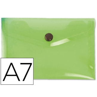 Carpeta Beautone dossier broche polipropileno A6 color verde serie frosty