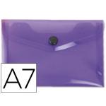 Liderpapel DS43 - Dossier con broche, A7, 180 micras, capacidad para 50 hojas, color violeta frosty