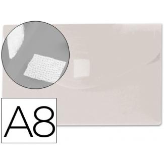 Liderpapel DS47 - Dossier con broche, A8, 180 micras, capacidad para 50 hojas, color transparente