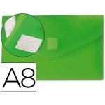Carpeta Beautone dossier broche polipropileno A8 color verde con cierre de velcro