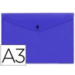 Carpeta Beautone dossier broche polipropileno tamaño A3 color azul serie frosty