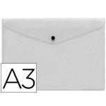 Liderpapel DS32 - Dossier con broche, A3, 180 micras, capacidad para 50 hojas, color incoloro frosty