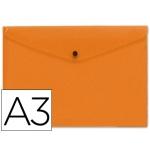 Liderpapel DS29 - Dossier con broche, A3, 180 micras, capacidad para 50 hojas, color naranja frosty