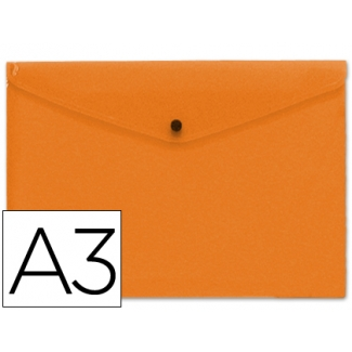 Carpeta Beautone dossier broche polipropileno tamaño A3 color naranja serie frosty