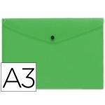 Liderpapel DS31 - Dossier con broche, A3, 180 micras, capacidad para 50 hojas, color verde frosty