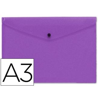 Carpeta Beautone dossier broche polipropileno tamaño A3 color violeta serie frosty