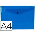 Carpeta Beautone dossier broche polipropileno tamaño A4 azul oscuro transparente