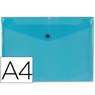 Liderpapel DS15 - Dossier con broche, A4, 180 micras, capacidad para 50 hojas, color azul transparente
