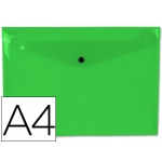 Carpeta Beautone dossier broche polipropileno tamaño A4 color verde claro hojas