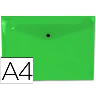 Liderpapel DS27 - Dossier con broche, A4, 180 micras, capacidad para 50 hojas, color verde claro transparente
