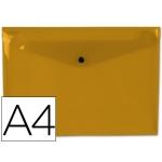 Carpeta Beautone dossier broche polipropileno tamaño A4 naranja transparente
