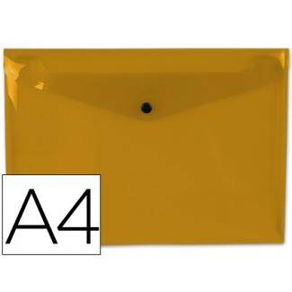 Liderpapel DS25 - Dossier con broche, A4, 180 micras, capacidad para 50 hojas, color naranja transparente