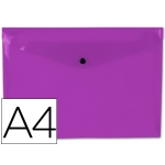 Liderpapel DS28 - Dossier con broche, A4, 180 micras, capacidad para 50 hojas, color violeta transparente