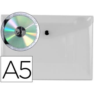 Liderpapel DS21 - Dossier con broche, A5, 180 micras, capacidad para 50 hojas, color transparente