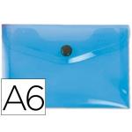 Liderpapel DS35 - Dossier con broche, A6, 180 micras, capacidad para 50 hojas, color azul frosty