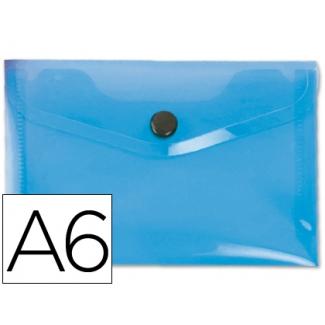 Carpeta Beautone dossier broche polipropileno tamaño A6 color azul serie frosty