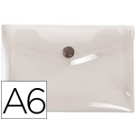 Liderpapel DS37 - Dossier con broche, A6, 180 micras, capacidad para 50 hojas, color incolora frosty