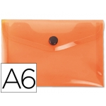 Carpeta Beautone dossier broche polipropileno tamaño A6 color naranja serie frosty