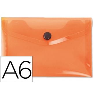 Liderpapel DS34 - Dossier con broche, A6, 180 micras, capacidad para 50 hojas, color naranja frosty