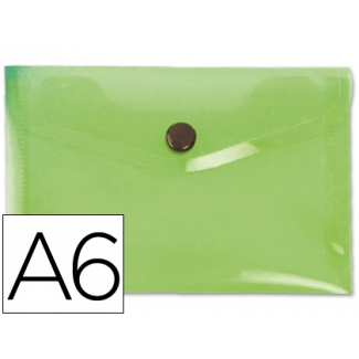 Carpeta Beautone dossier broche polipropileno tamaño A6 color verde serie frosty