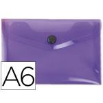 Carpeta Beautone dossier broche polipropileno tamaño A6 color violeta serie frosty