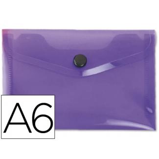 Liderpapel DS38 - Dossier con broche, A6, 180 micras, capacidad para 50 hojas, color violeta frosty