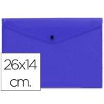 Carpeta Beautone dossier broche polipropileno tamaño 26x14 cm azul
