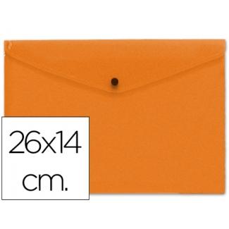 Carpeta Beautone dossier broche polipropileno tamaño 26x14 cm naranja
