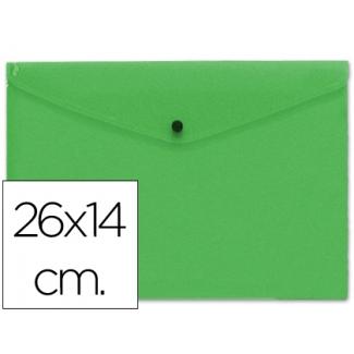 Carpeta Beautone dossier broche polipropileno tamaño 26x14 cm verde